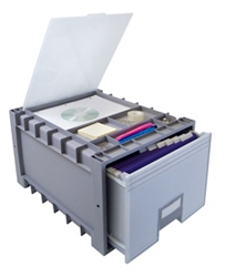 """Archive Letter-Sized Storage Box With Lid - 18"""", 37175"""