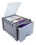 "Archive Letter-Sized Storage Box With Lid - 18"", 37175"
