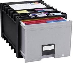 "Locking Letter-Sized Archive Storage Box - 18"", 37176"