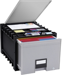 """Locking Letter Archive Storage Box With Lid - 18"""", 37178"""