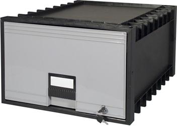 "Locking Legal-Sized Archive Storage Box - 18"", 37179"