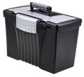 "Letter/Legal Portable File Box - 17""W, 37182"