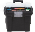 """Portable Letter-Sized File Box on Wheels - 16""""W, 37183"""