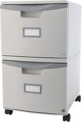 "Two Drawer Mobile Filing Cabinet - 15""W, 37185"