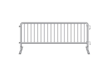 "Flat Foot Steel Barricade - 102""W , 220058"