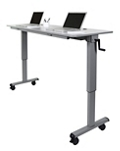 "Adjustable Flip-Top Crank Table - 60""W, 46820"