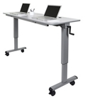 "Adjustable Flip-Top Crank Table - 72""W, 46821"