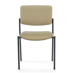 Armless Vinyl Stacking Guest Chair, 25898