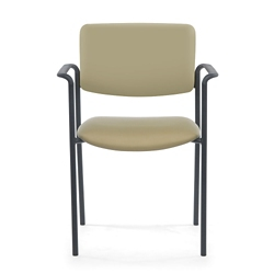 Stacking Vinyl Guest Chair with Arms, 25900