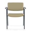 Stacking Mid-Size Vinyl Guest Chair with Arms, 25901