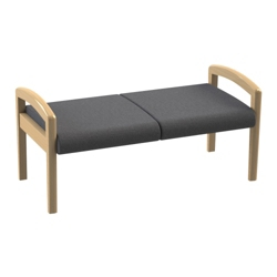 "Vinyl Guest Two Seat Bench - 45.5""W, 26043"