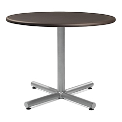 "Tube X-Base Dining Table with Bullnose Edging - 36""DIA, 41973"