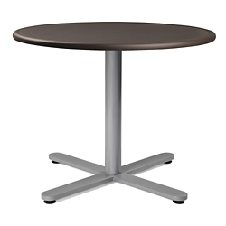 "Flat X-Base Dining Table with Bullnose Edging - 36""DIA, 41977"
