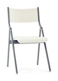 "Metal Folding Chair with Vinyl Seat and Back - 16""W, 220284"
