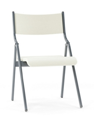 "Metal Folding Chair with Vinyl Seat and Back - 18""W, 220285"