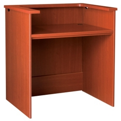 """Circulation Desk with Patron Counter - 42""""W x 30""""D, 10026"""