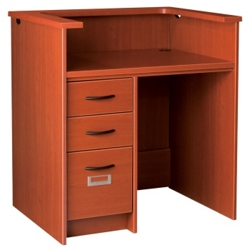 "Circulation Desk with Counter and Left Drawers - 42""W x 30""D, 10029"