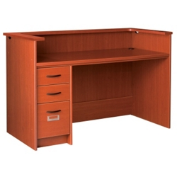 "Circulation Desk with Counter and Left Drawers - 60""W x 30""D, 10039"