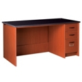 "Circulation Desk with Lockable Right Drawers - 60""W x 30""D, 10054"
