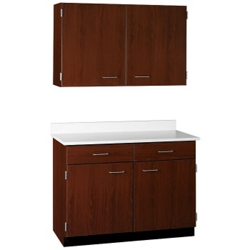 "Two Drawer, Four Door Wall and Base Cabinet Set - 48""W, 25203"