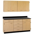 "Six Drawer, Six Door Wall and Base Cabinet Set - 60""W, 25206"
