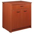 "Two Doored Library Station with Lockable Drawer - 40""H, 31082"