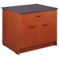 "Lockable Two Shelf Doored Library Station with Drawer - 30""H, 31101"