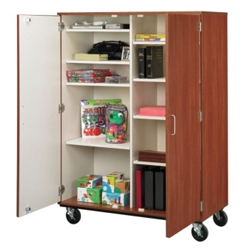 "67""H Mobile Storage Cabinet, 36015"