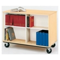 "36""H Double Sided Book Cart, 36019"