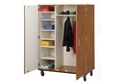 "Lockable Seven Shelf Mobile Teacher Wardrobe Cabinet - 67""H, 36260"