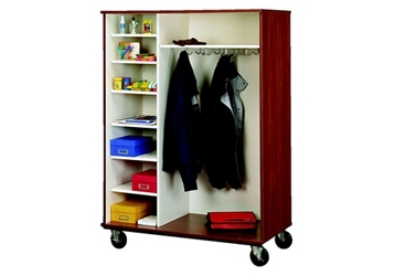 "Divided Shelf and Coat Storage Cabinet - 67""H, 36853"