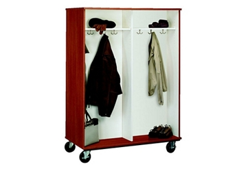 "Double-Sided Four Compartment Mobile Coat Cabinet - 67""H, 36854"