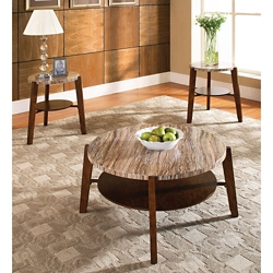 Faux Marble Top Occasional Tables - Set of Three, 46256