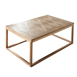 "Parquet Veneer Top Coffee Table - 48""W, 46260"