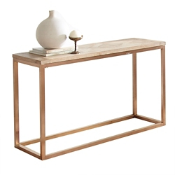 "Parquet Veneer Top Sofa Table - 48""W, 46262"