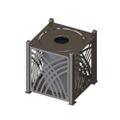 Waste Receptacle with Flat Top, 82564