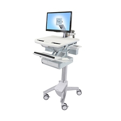 Monitor Cart with Keyboard Tray, 26315