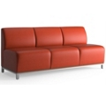 Armless Three Seat Fabric Lounge Sofa, 53048