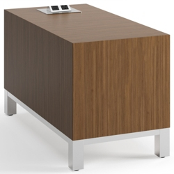 "Rectangular Modern Laminate End Table with Power - 14""W x 28""D, 53036"