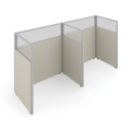 "63""H Panels Only 1x2 Privacy Stations 60x37 Each, 22545"