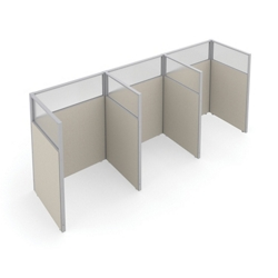 "47""H Panel Only 1x3 Privacy Stations 48""x47"" Each, 22547"