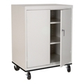 "2 Shelf Steel Mobile Storage Cabinet - 36""W x 42""H, 36228"