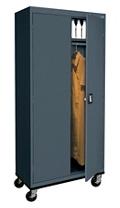 """Steel Mobile Wardrobe Cabinet - 46""""W x 72""""H, 36230"""