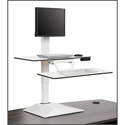 Altier Electric Single Monitor Sit/Stand Riser with Memory, 61019