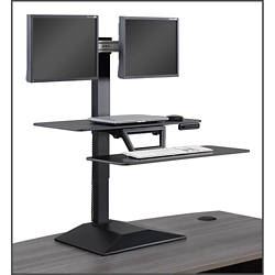 Altier Electric Dual Monitor Sit/Stand Riser with Memory, 16497