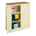 Counter Height Storage Cabinet with Wood Top, 31282