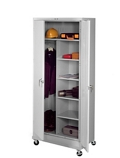 "36""W x 24""D x 85""H Mobile Combination Storage Cabinet, 31738"