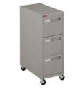 "Spectrum Three Drawer Mobile Vertical Letter File - 28.25""D, 34029"
