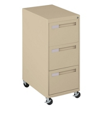 "Spectrum Three Drawer Mobile Vertical Legal File - 28.25""D, 34032"