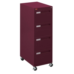"Spectrum Four Drawer Mobile Vertical Legal File - 28.25""D, 34033"